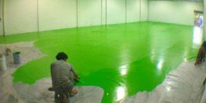 พื้น epoxy ภายในโรงงาน